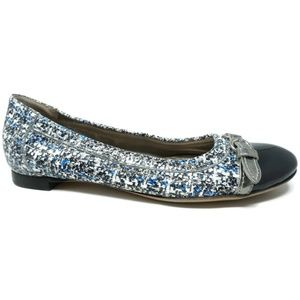 AGL Ballet Flats Blue White Size 37 EU 7 US